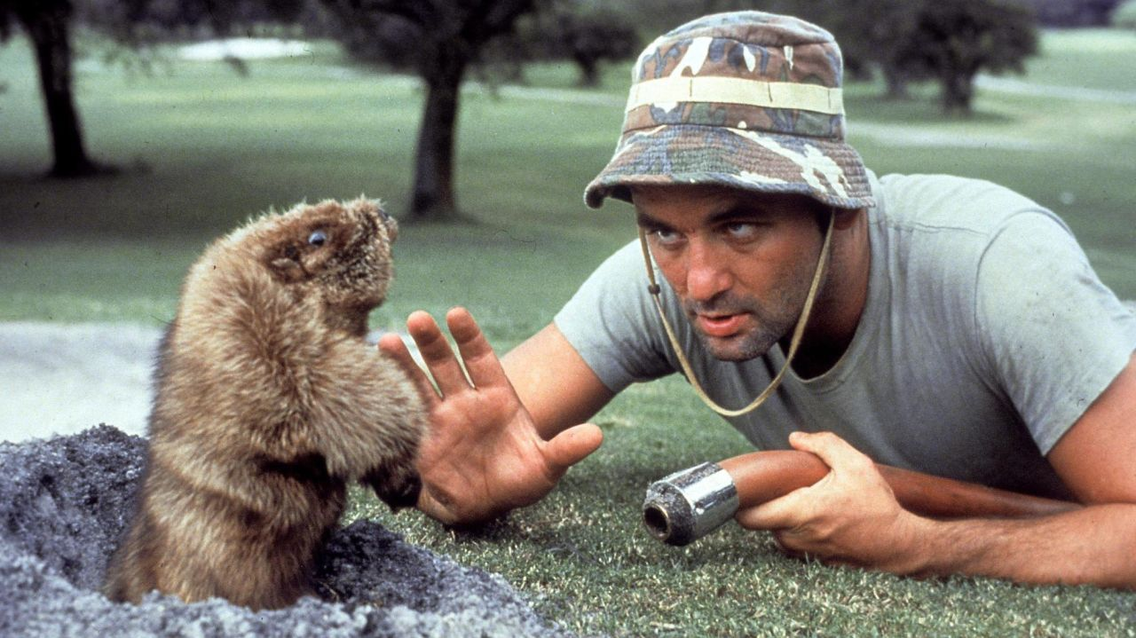 Bill Murray and Gofer in Caddyshack